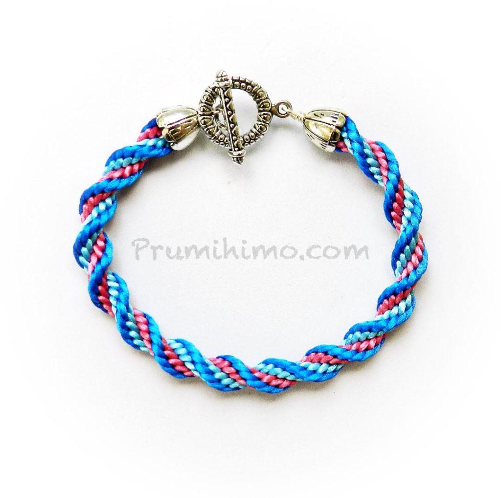 Spiral braid bracelet