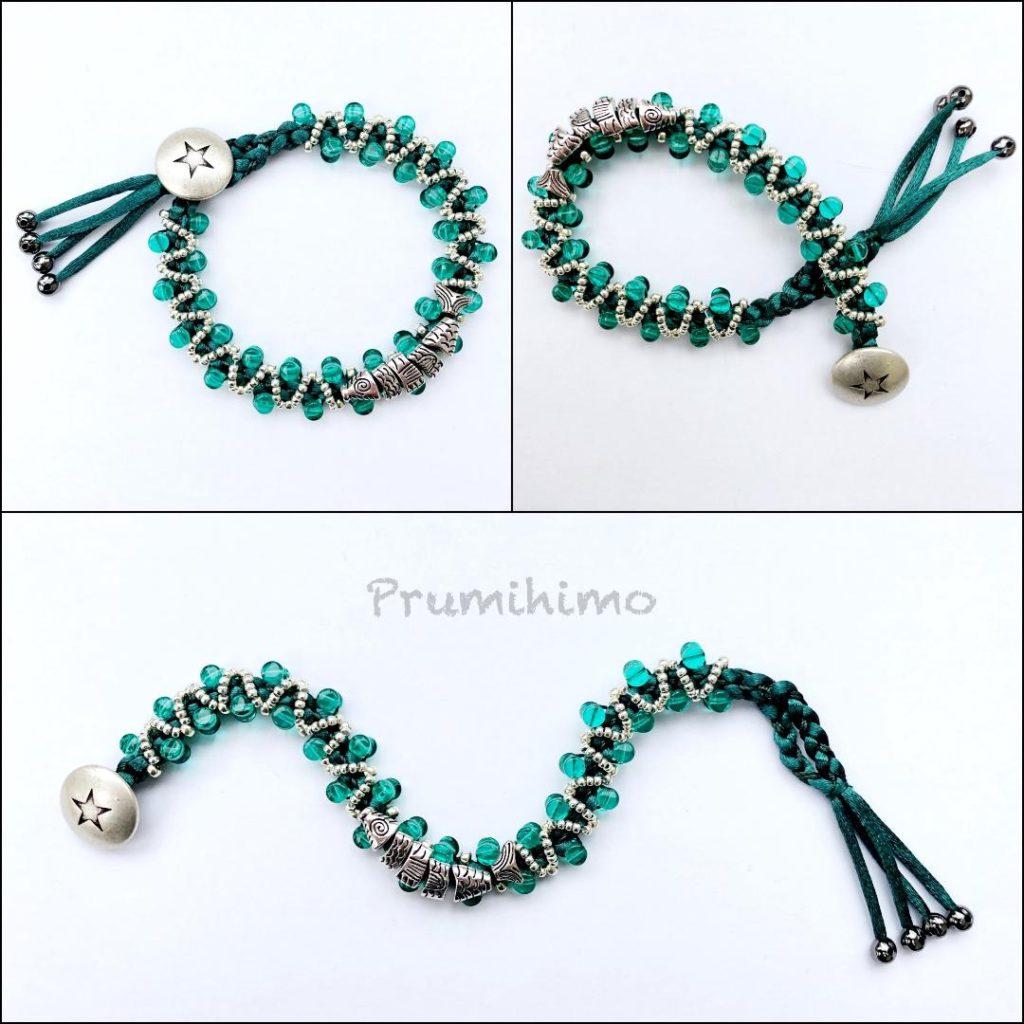 Kumihimo fish bracelet