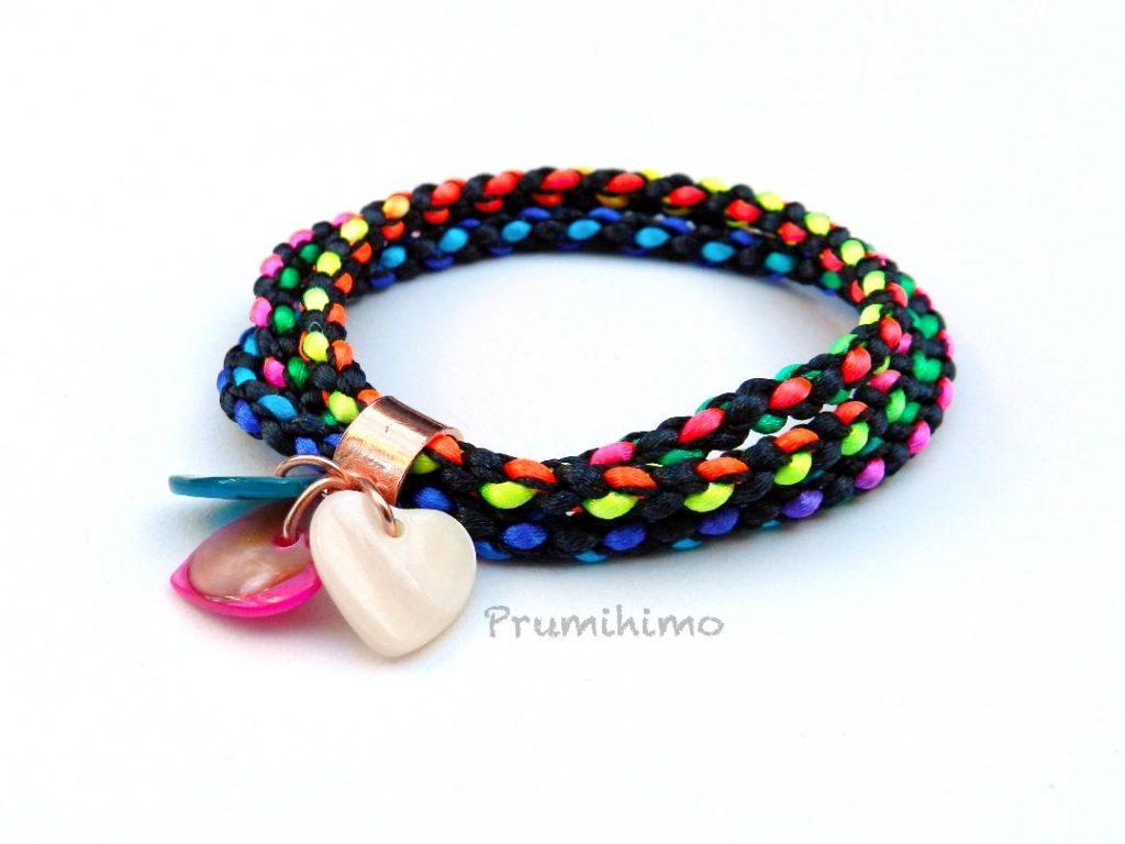 Kumihimo triple bracelet