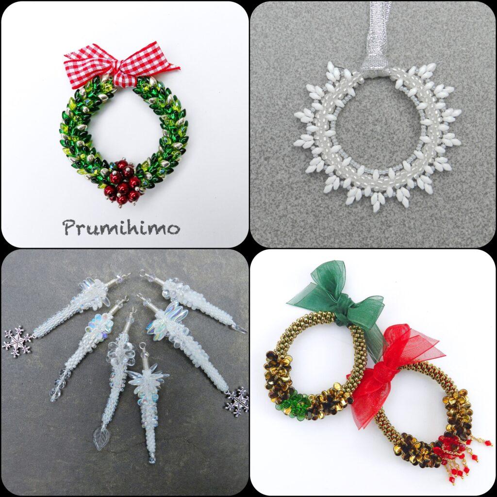 Christmas kumihimo