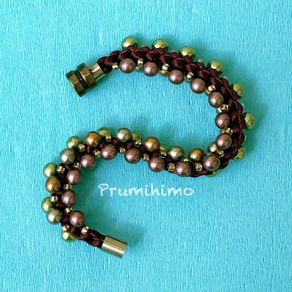 Triple beading Prumihimo